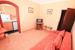 Гостиная. Черногория, Обала Джурашевича : Апартамент с отдельной спальней, с террасой с видом на море