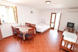 Черногория, Радовичи : Апартамент для 6 человек, с отдельной спальней, с террасой с шикарным видом на море, возле пляжа