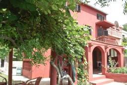 Фасад дома. Черногория, Приевор : 3-х этажный дом в Будве (Приевор) с 4-мя отдельными спальнями, с 2-мя ванными комнатами, с 2-мя гостиными, с бассейном, с террасой, с местом для барбекю, с зеленой территорией, несколько парковочных мест, Wi-Fi