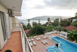 Балкон. Черногория, Герцег-Нови : Апартамент с отдельной спальней, с балконом с видом на море