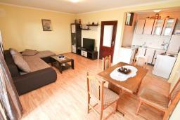 Гостиная. Черногория, Росе : Апартамент с отдельной спальней, с большой гостиной, с 2-мя террасами