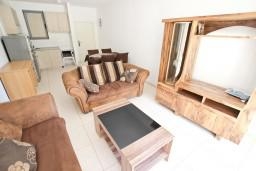 Гостиная. Черногория, Бечичи : Современный апартамент для 4-6 человек, 2 отдельные спальни, с балконом с видом на море