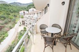 Балкон. Черногория, Пржно / Милочер : Современный апартамент с отдельной спальней, с балконом