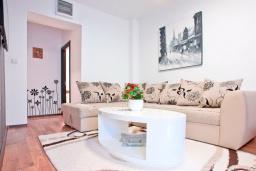 Гостиная. Черногория, Бечичи : Апартамент для 4-5 человек, с 2-мя отдельными спальнями, с террасой