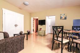 Гостиная. Черногория, Дженовичи : Апартамент для 4-6 человек, с 2-мя отдельными спальнями, с 2-мя ванными комнатами, с террасой с видом на море