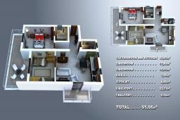 Прочее. Черногория, Дженовичи : Апартамент для 4-6 человек, с 2-мя отдельными спальнями, с 2-мя ванными комнатами, с террасой с видом на море