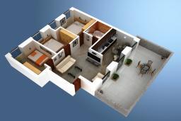 Прочее. Черногория, Котор : Апартамент для 6-8 человек, с 3-мя отдельными спальнями, с просторной гостиной, с ванной комнатой с джакузи, с большой террасой