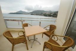 Балкон. Черногория, Рафаиловичи : Апартамент №601 с отдельной спальней и видом на море