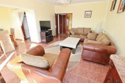 Гостиная. Черногория, Сутоморе : Апартамент для 4-6 человек, с большой гостиной, с 2-мя отдельными спальнями, с 2-мя ванными комнатами, с большим балконом с шикарным видом на море