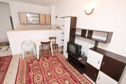 Гостиная. Черногория, Зеленика : Апартамент с большой гостиной, с отдельной спальней, с 2-мя балконами