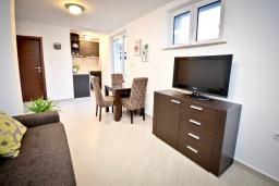 Гостиная. Черногория, Будва : Апартамент с отдельной спальней, с террасой