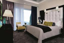 Спальня. Черногория, Герцег-Нови : Апартаменты с 2 спальнями и видом на море