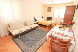 Студия (гостиная+кухня). Черногория, Росе : Студия с балконом с шикарным видом на море, возле пляжа