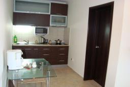 Кухня. Черногория, Крашичи : Апартамент в 100 метрах от пляжа, с террасой и шикарным видом на море