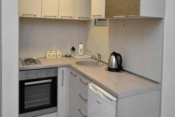 Кухня. Черногория, Рафаиловичи : Апартамент в 50 метрах от пляжа, с гостиной и отдельной спальней