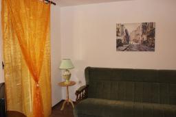 Гостиная. Черногория, Шушань : Пятиместные апартаменты с двумя спальными комнатами, кухней-столовой и гостиной