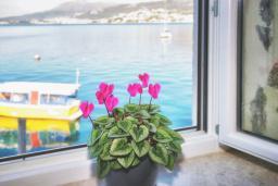 Вид на море. Черногория, Росе : Апартамент возле пляжа с гостиной и отдельной спальней