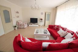 Гостиная. Черногория, Шушань : Шикарная вилла с 5 спальнями и видом на море, с садом, местом для барбекю, приватной парковкой, Wi-Fi