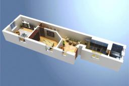 Черногория, Доброта : Апартамент на берегу моря, гостиная, 2 отдельные спальни, терасса