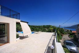 Территория. Черногория, Герцег-Нови : Шикарная вилла с бассейном и видом на море, 4 спальни, 4 ванные комнаты, дворик, гараж