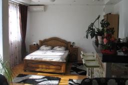 Студия (гостиная+кухня). Черногория, Добра Вода : Номер-студио с балконом и видом на море