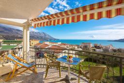 Вид на море. Черногория, Бечичи : Апартаменты с 2 спальнями и балконом с шикарным видом на море
