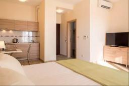 Студия (гостиная+кухня). Черногория, Бечичи : Современная студия с балконом и видом на море, в комплексе с большим бассейном