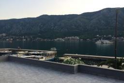 Вид на море. Черногория, Доброта : Апартамент с гостиной, отдельной спальней и террасой с видом на море, в 20 метров до пляжа