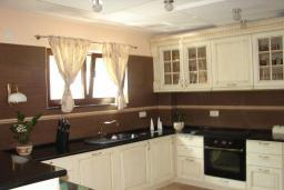 Кухня. Черногория, Мрчевац : Шикарная вилла с бассейном и зеленым двориком, 4 спальни, сауна, тренажерный зал, барбекю, парковка, Wi-Fi