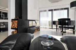 Гостиная. Черногория, Мрчевац : Просторная вилла с бассейном в окружении леса, 4 спальни, 3 ванные комнаты, барбекю, парковка, Wi-Fi