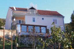 Фасад дома. Черногория, Герцег-Нови : Прекрасный дом с бассейном и двориком, 6 спален, 2 ванные комнаты, парковка, Wi-Fi