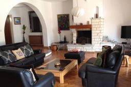 Гостиная. Черногория, Лепетане : Прекрасная вилла с бассейном и зеленым двориком, 4 спальни, 3 ванные комнаты, парковка, Wi-Fi