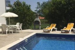 Бассейн. Черногория, Радовичи : Прекрасный дом с бассейном и зеленым двориком с барбекю, 4 спальни, 2 ванные комнаты, парковка