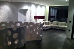 Гостиная. Черногория, Кримовица : Просторная современная вилла с шикарным видом на море, 5 спален, 2 ванные комнаты, парковка, Wi-Fi