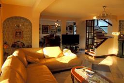 Гостиная. Черногория, Бар : Прекрасная вилла с бассейном и зеленым двориком с барбекю, 4 спальни, 2 ванные комнаты, парковка, Wi-Fi