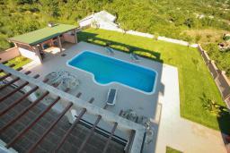 Бассейн. Черногория, Зеленика : Прекрасная вилла с бассейном и зеленым двориком с барбекю, 2 гостиные, 3 спальни, 2 ванные комнаты, парковка, Wi-Fi