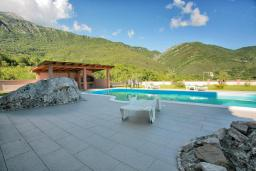 Территория. Черногория, Зеленика : Прекрасная вилла с бассейном и зеленым двориком с барбекю, 2 гостиные, 3 спальни, 2 ванные комнаты, парковка, Wi-Fi
