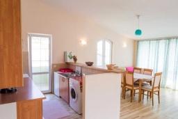 Кухня. Черногория, Рафаиловичи : Апартамент в 50 метрах от пляжа, с 2-мя спальнями и большим балконом с видом на море