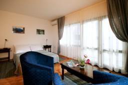 Гостиная. Черногория, Герцег-Нови : Апартамент Камелия для четырёх человек