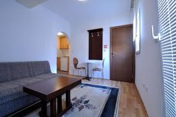 Гостиная. Черногория, Петровац : Апартаменты с отдельной спальней
