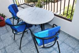 Балкон. Черногория, Мельине : Апартамент для 5 человек с двумя отдельными спальнями, с балконом и видом на море
