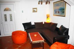 Гостиная. Черногория, Баошичи : Дом в Баошичи, 2 спальни, 2 ванные комнаты, стиральная машина, Wi-Fi.