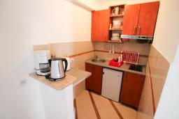 Кухня. Черногория, Рафаиловичи : Двухкомнатный апартамент с большой террасой на 1 этаже в 100 метрах от пляжа в Рафаиловичи