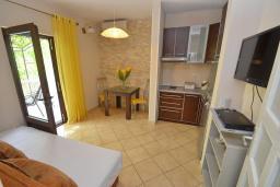 Гостиная. Черногория, Доброта : Апартаменты с отдельной спальней и террасой с видом на море