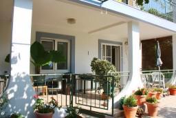 Терраса. Черногория, Мельине : Апартамент с отдельной спальней, с террасой и видом на сад