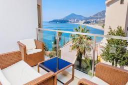 Вид на море. Черногория, Рафаиловичи : Семейный номер с балконом и шикарным видом на море