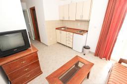 Гостиная. Черногория, Петровац : Апартамент с отдельной спальней с видом на море