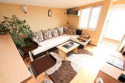 Гостиная. Черногория, Петровац : Апартамент для 4-5 человек, 2 отдельные спальни, с видом на море