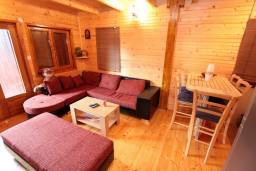 Гостиная. Черногория, Жабляк : Уютный 2-х этажный деревянный дом,2 отдельных спальни