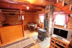 Гостиная. Черногория, Жабляк : Уютный деревянный дом с 4-мя отдельными спальнями на Жабляке.